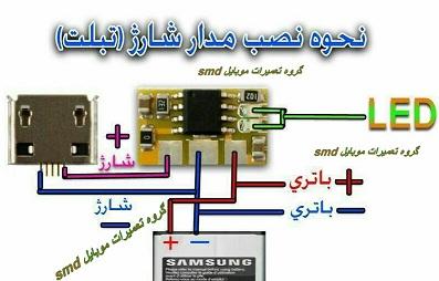 مدار شارژ در موبایل و تبلت
